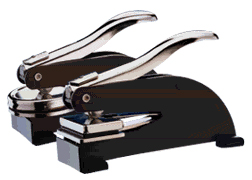Stamp your impression with this sturdy desk embosser